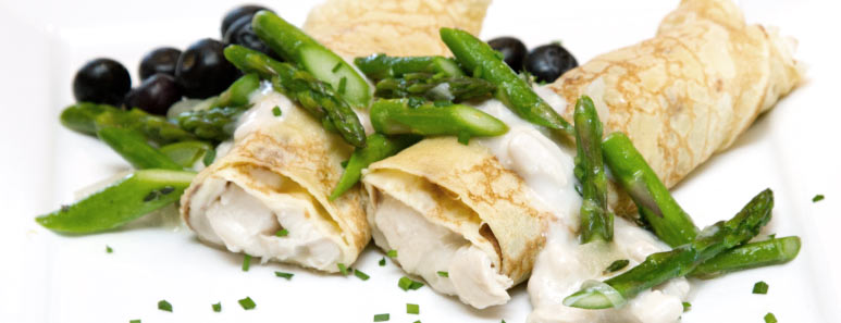 Chicken and Asparagus Crêpes