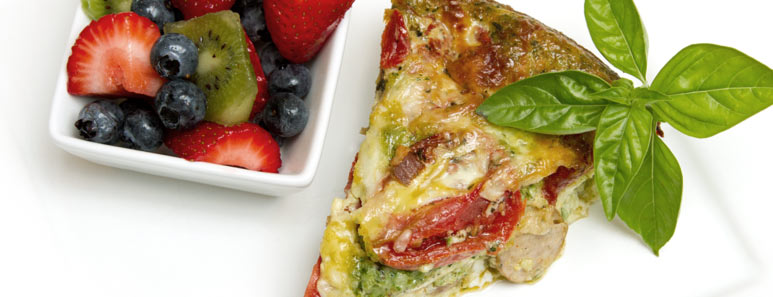Chicken Sausage and Roasted Tomato Frittata