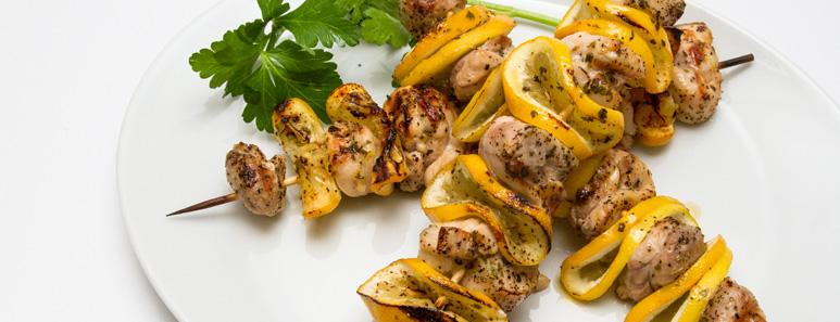 Lemon-Garlic Kabobs