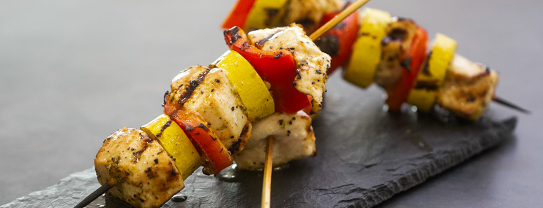 Honey, Chili & Lime Grilled Chicken Kabobs