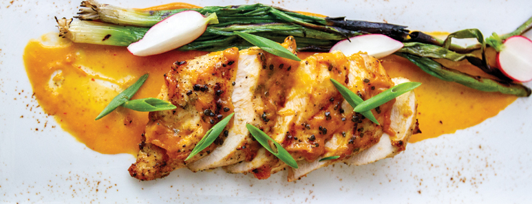 Grilled Chicken With Spicy Mango Barbecue Sauce