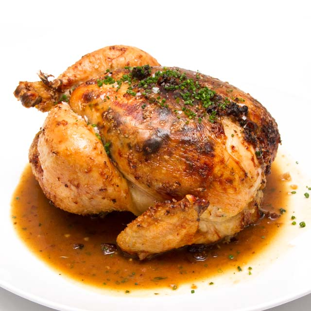 Citrus Roasted Chicken With Cranberry-Shallot Butter