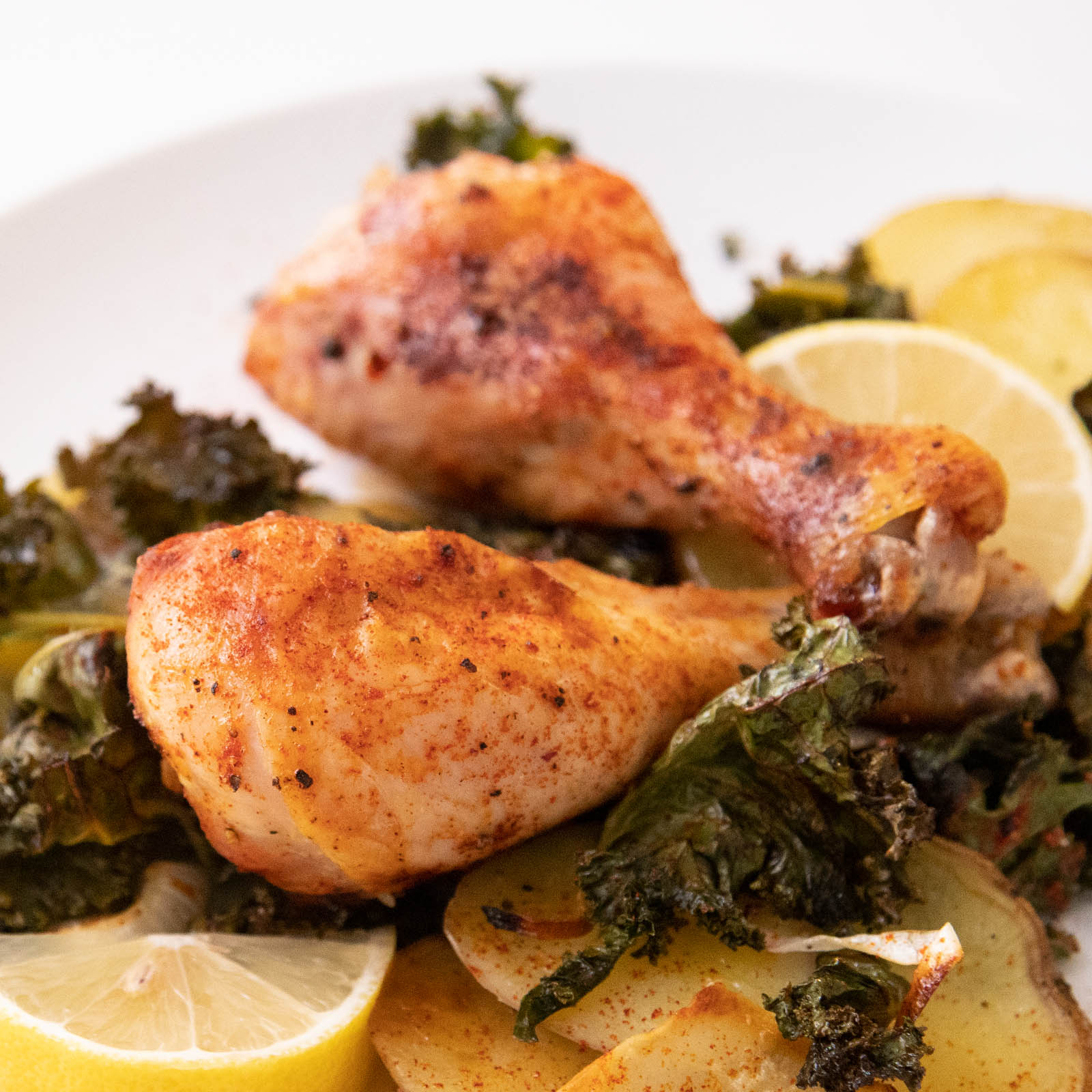 Easy Roasted Chicken With Potatoes & Kale