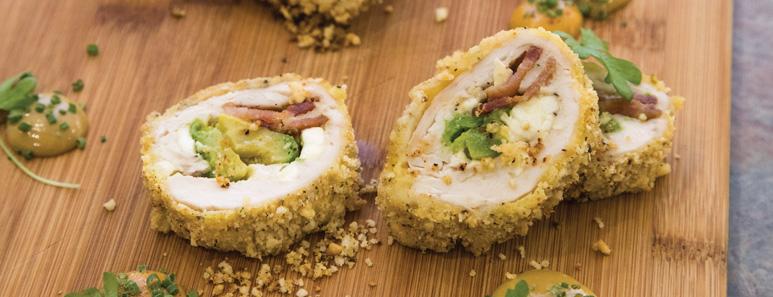 Avocado, Bacon & Feta Chicken Roulade