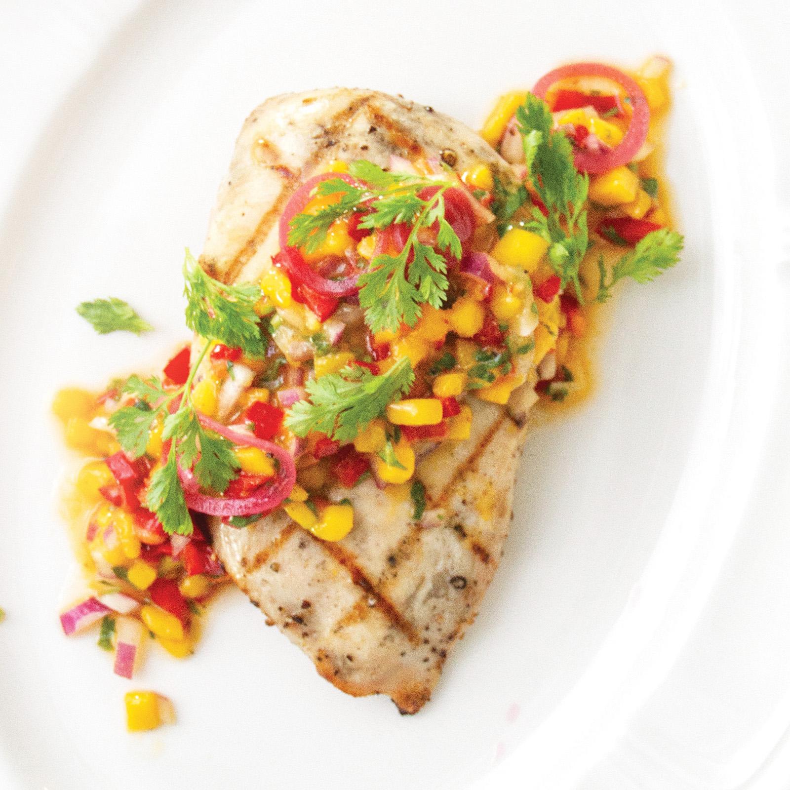 Grilled Chicken With Mango Habanero Salsa