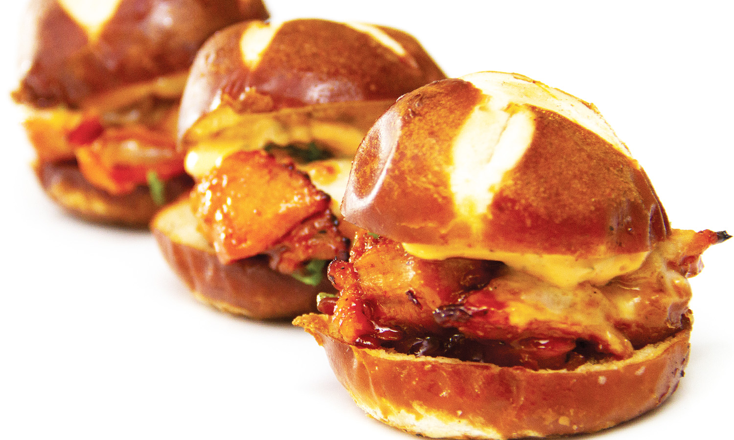 Chili and Lime Cheesy Chicken Sliders