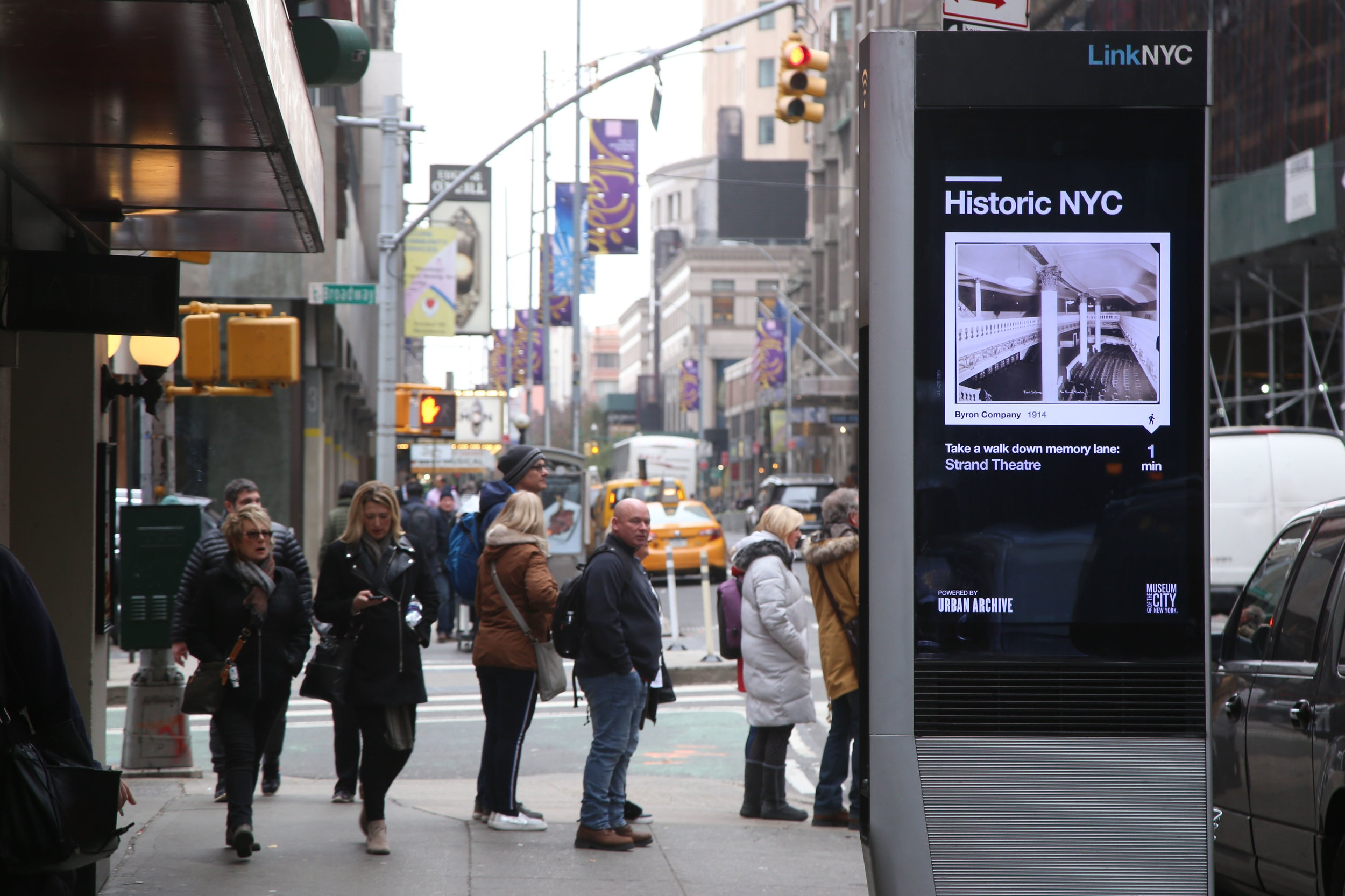 LinK NYC - Our mapping software powers new technologies, like LinkNYC kiosks, with location-based historical content.