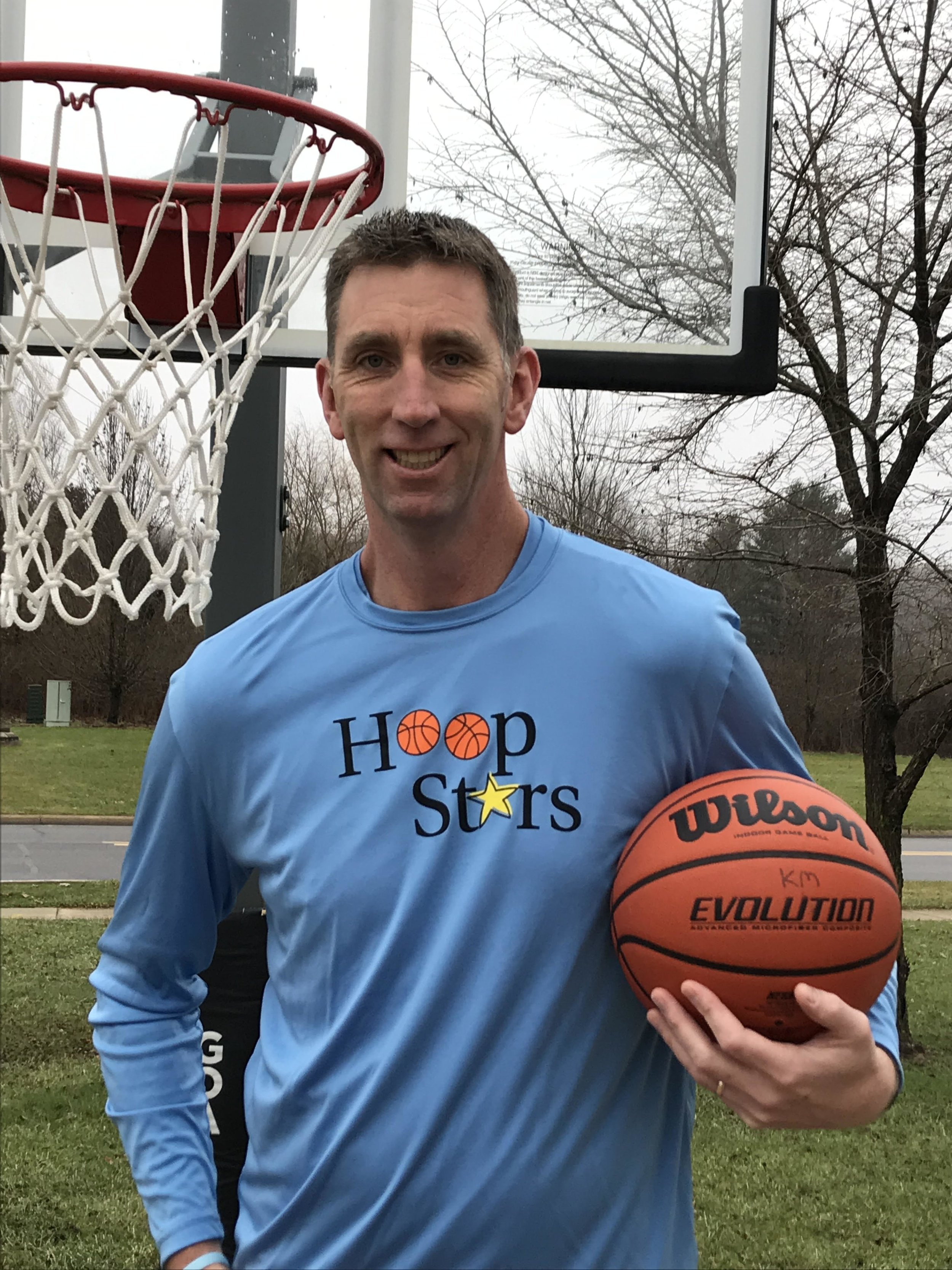 Dan McKenna - Hoop Stars classes are taught by Owner and Director Dan McKenna. Dan was a member of the Penn State Basketball team from 1990-1994, and has been coaching and teaching basketball for the past 25 years. Dan truly enjoys teaching basketball to young players while focusing on coaching, and learning the game in a positive environment.Hoop Stars is a new basketball program designed to teach children the fundamentals of the game. Hoop Stars Classes typically meet once per week for a session length of 6-8 weeks. Hoop Stars' curriculum is age- appropriate and introduces players to a new basketball skill each week while also focusing on team-building concepts.