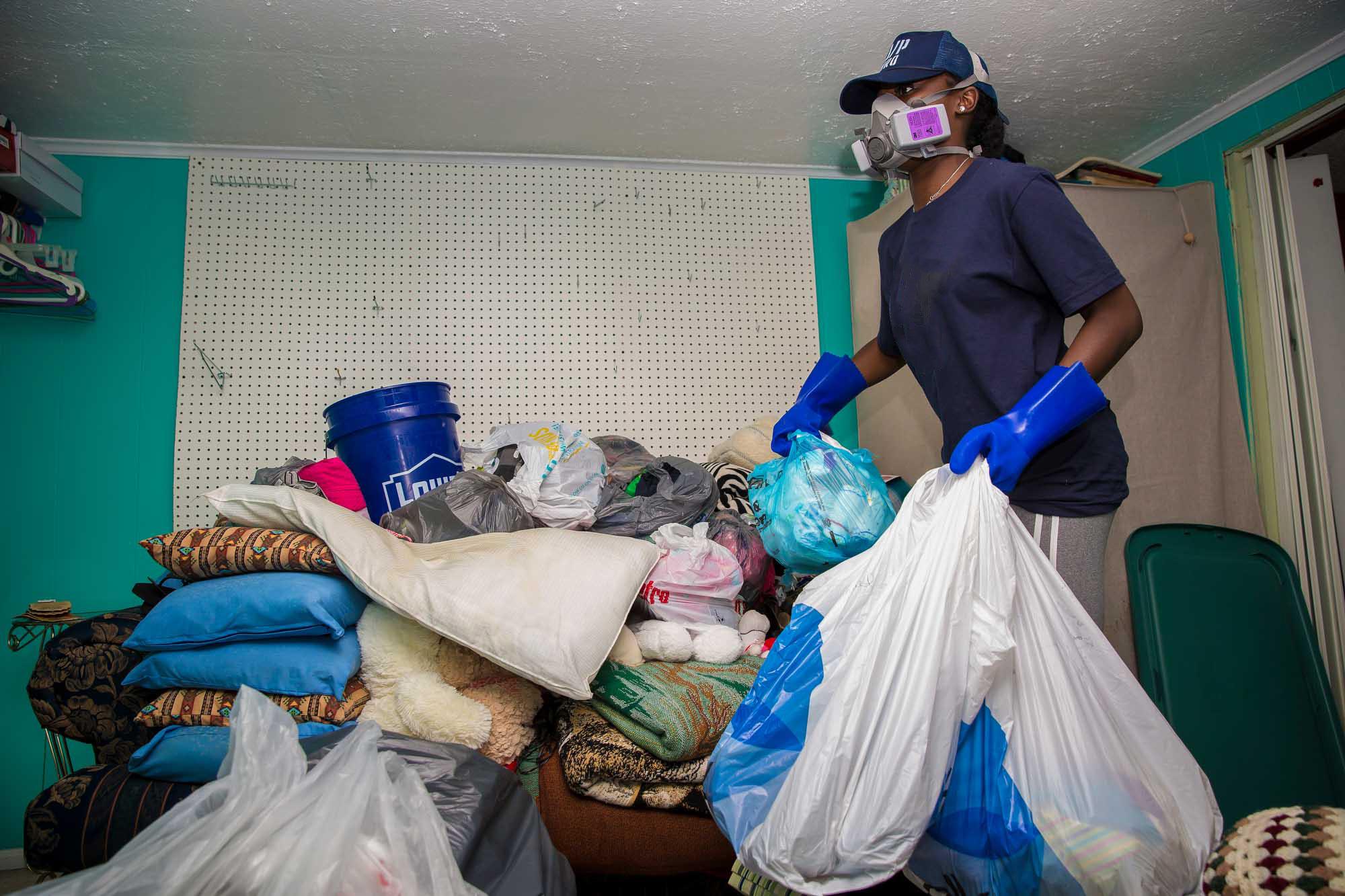 38,000 truck loads of debris removed -