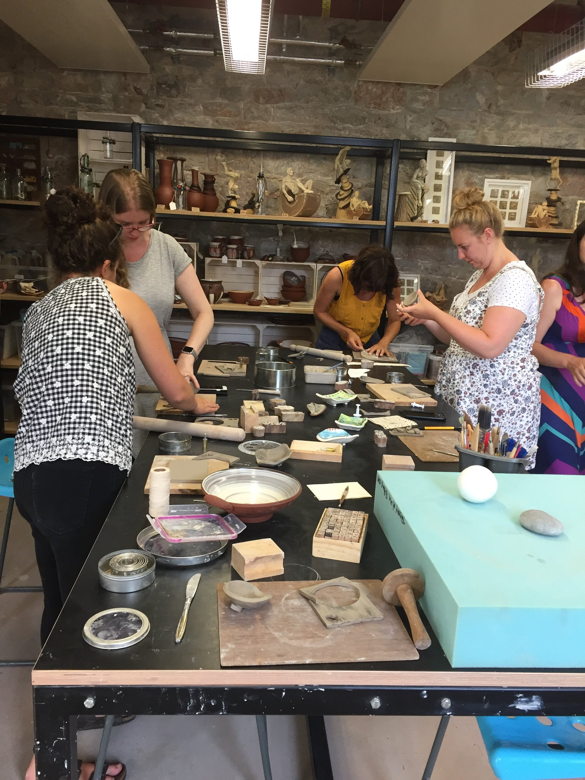 Friends and Celebrations - These bespoke 2 hour sessions are an original way to celebrate a special Occassion with your friends. These workshops can accommodate up to 6 adults. Choose from a range of workshops including:MAKING SOAP/TRINKET DISHESMAKING FAVOURS FOR YOUR WEDDINGCREATING SLUP DISHESPANDORAS BOXESCost per person £25. All materials and firing included.