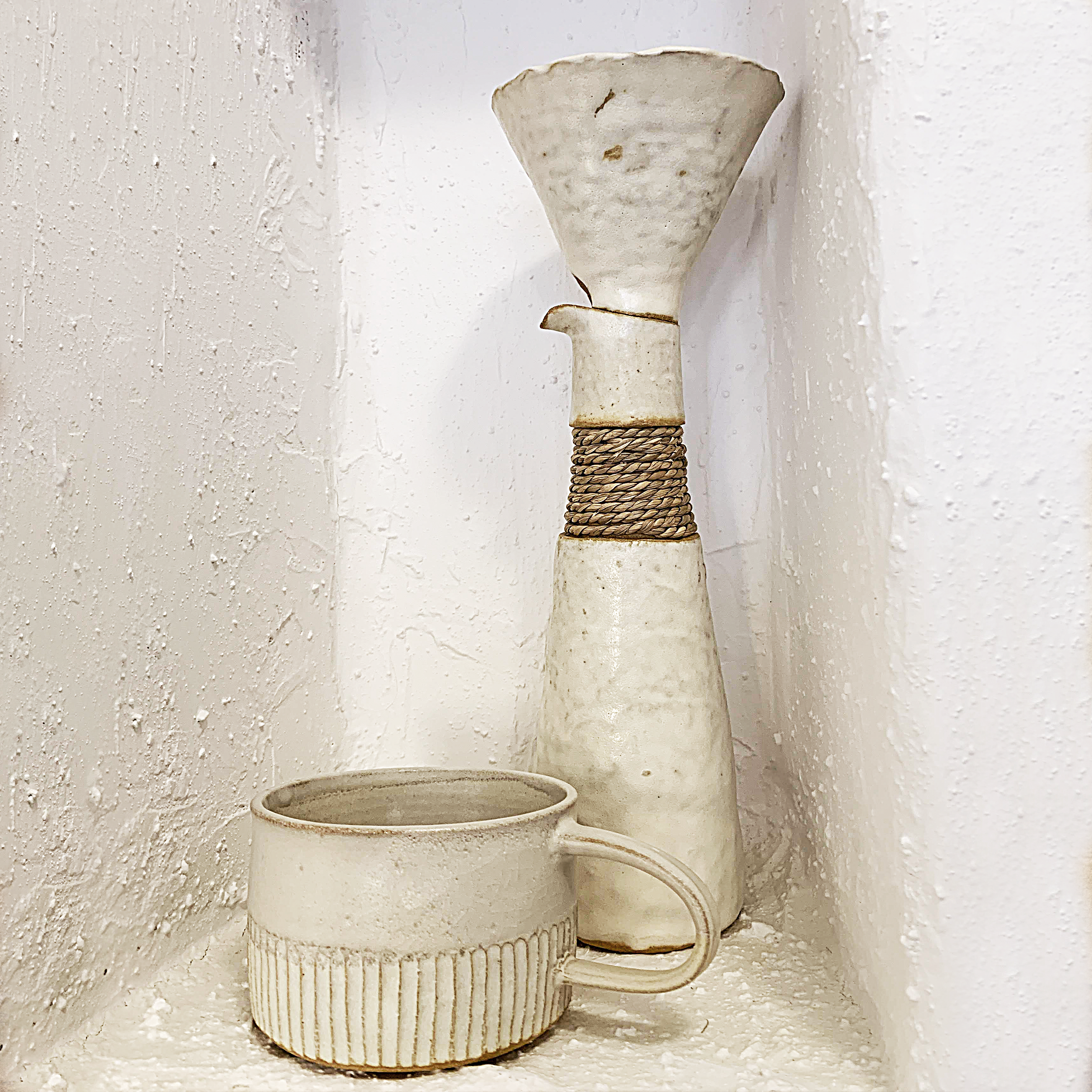 AYAME BULLOCK lIVES AND CREATES HER HANDBUILT CERAMICS ON ORCAS ISLAND, WASHINGTON, using pinch and coil techniques. HER WORK IS INSPIRED BY HER PERSONAL EXPERIENCES, BUT MOST IMPORTANTLY HER JAPANESE HERITAGE AND WORKING SURROUNDED BY THE SERENE RUSTIC BEAUTY OF THE SAN JUAN ISLANDS IN WASHINGTON STATE.