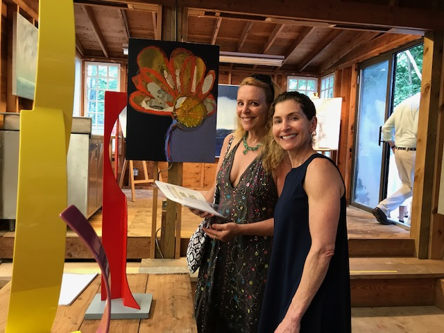Coco Myers (right) and good friend, Martha McCully, at the folioeast barn opening July 8.