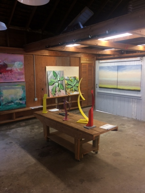 The Barn as gallery...The first folioeast opening at Studio 144, East Hampton, in NOMA