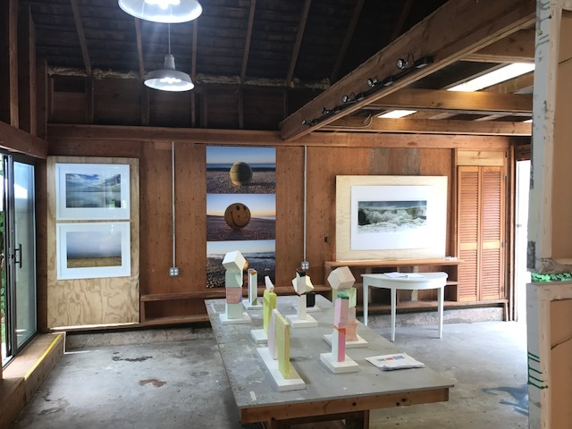 The second show in the barn at Studio 144 in East Hampton. Sculpture by Amy Wickersham. Photos (left and right) by Jane