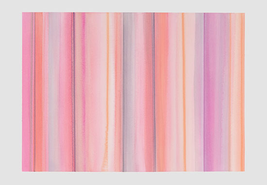 """PINK LINES"" by Janet Jennings, 2017. Watercolor on paper, 22 x 30 inches."
