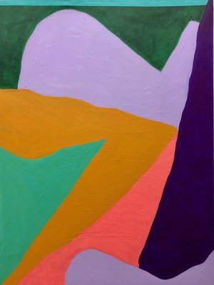 George Singer, EverGreen, acrylic on canvas, 40 x 30 in  $3200