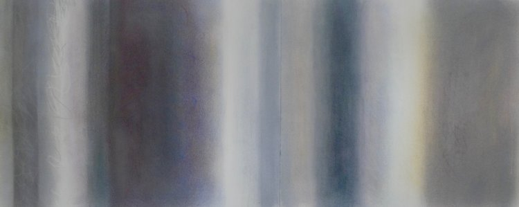 Penumbra III, 2017, pastel on paper, 18 x 46 in, $3,200