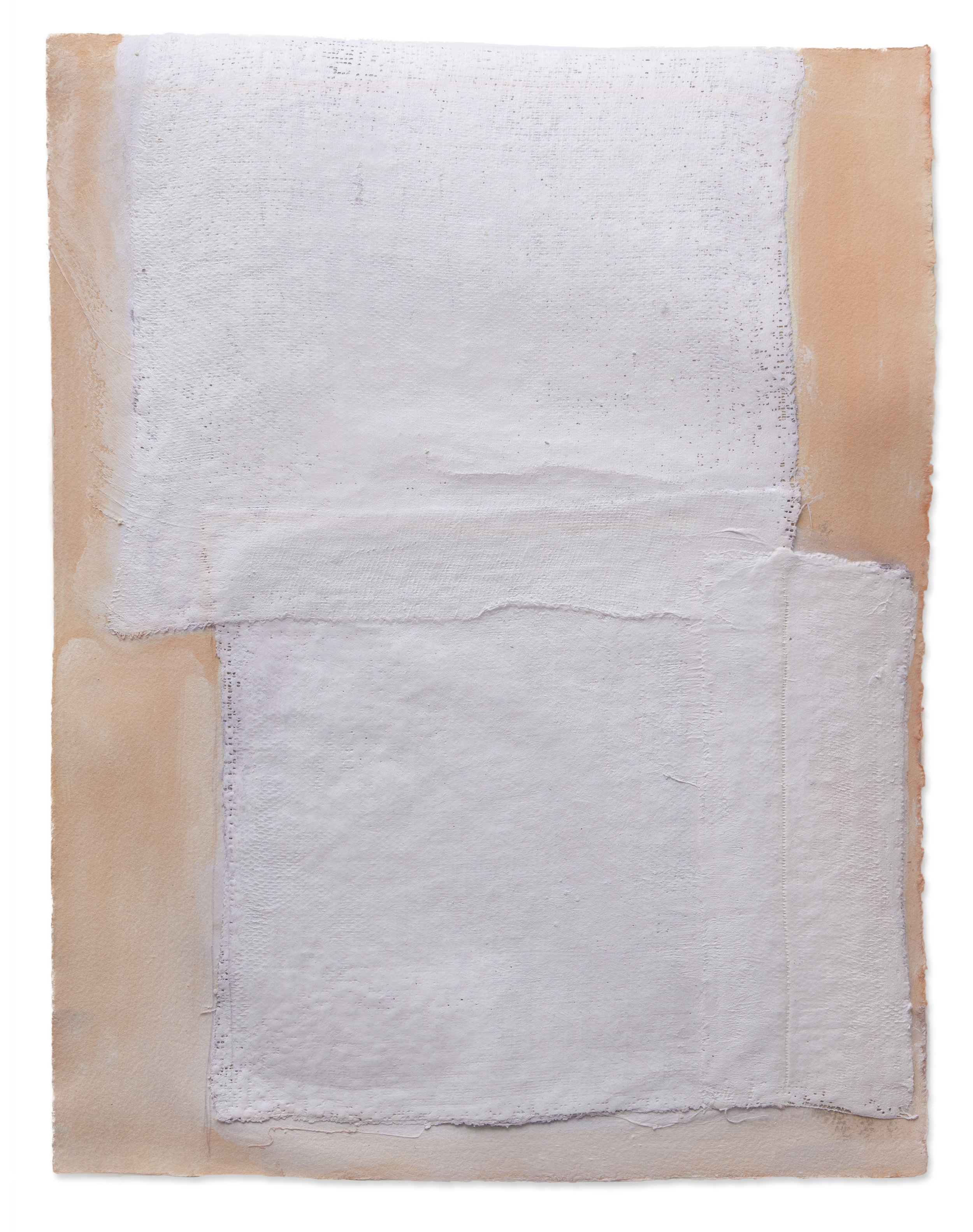 Lav Squared, 2018, plaster, paint on paper, 14 x 18 in, $2,000