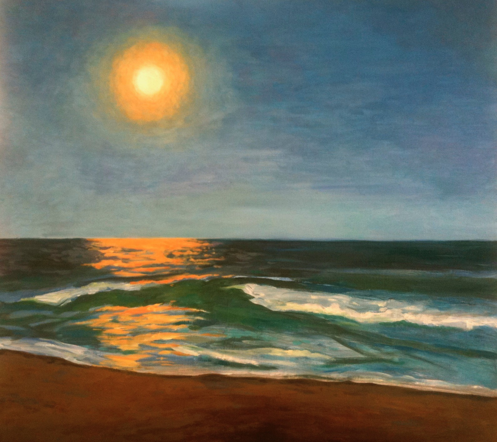 Harvest Moon, 2014, oil on canvas, 20 x 22 in, SOLD