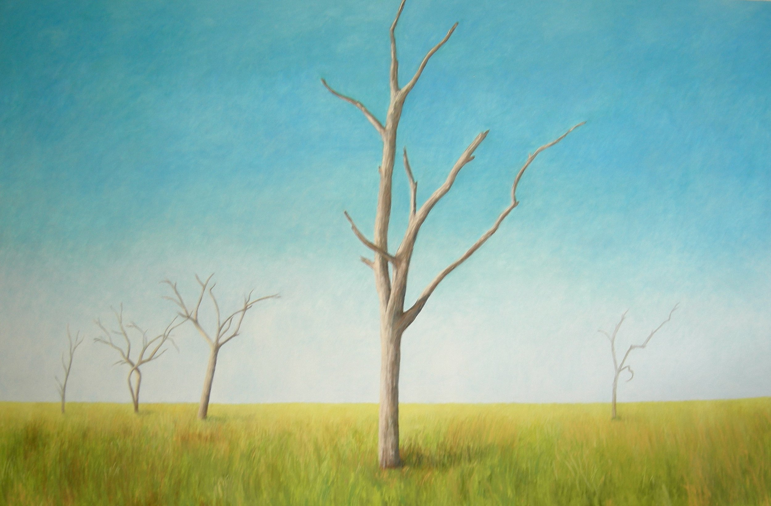 Wetland, 2007, oil on canvas, 120 x 72 in, $10,000