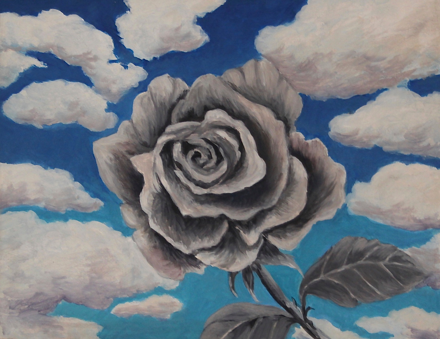 Rose Study, 2015, oil on board, 30 x 30 in, SOLD