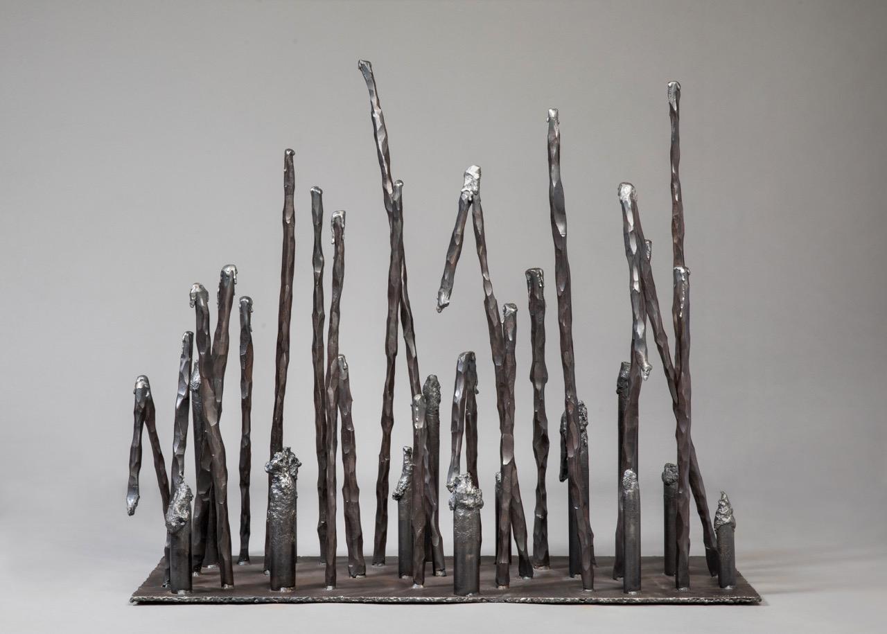 Heartland, 2017, steel, 24 x 36 x 12 in, $5,500