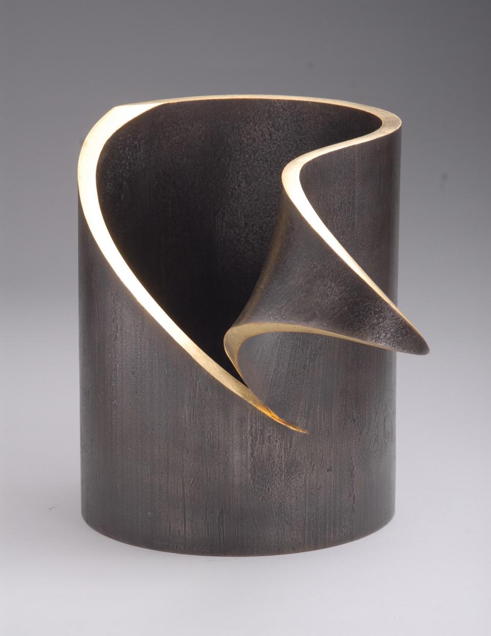 Peel Me, 2005, steel, gold leaf, 14 x 14 x 9 in, $4,500