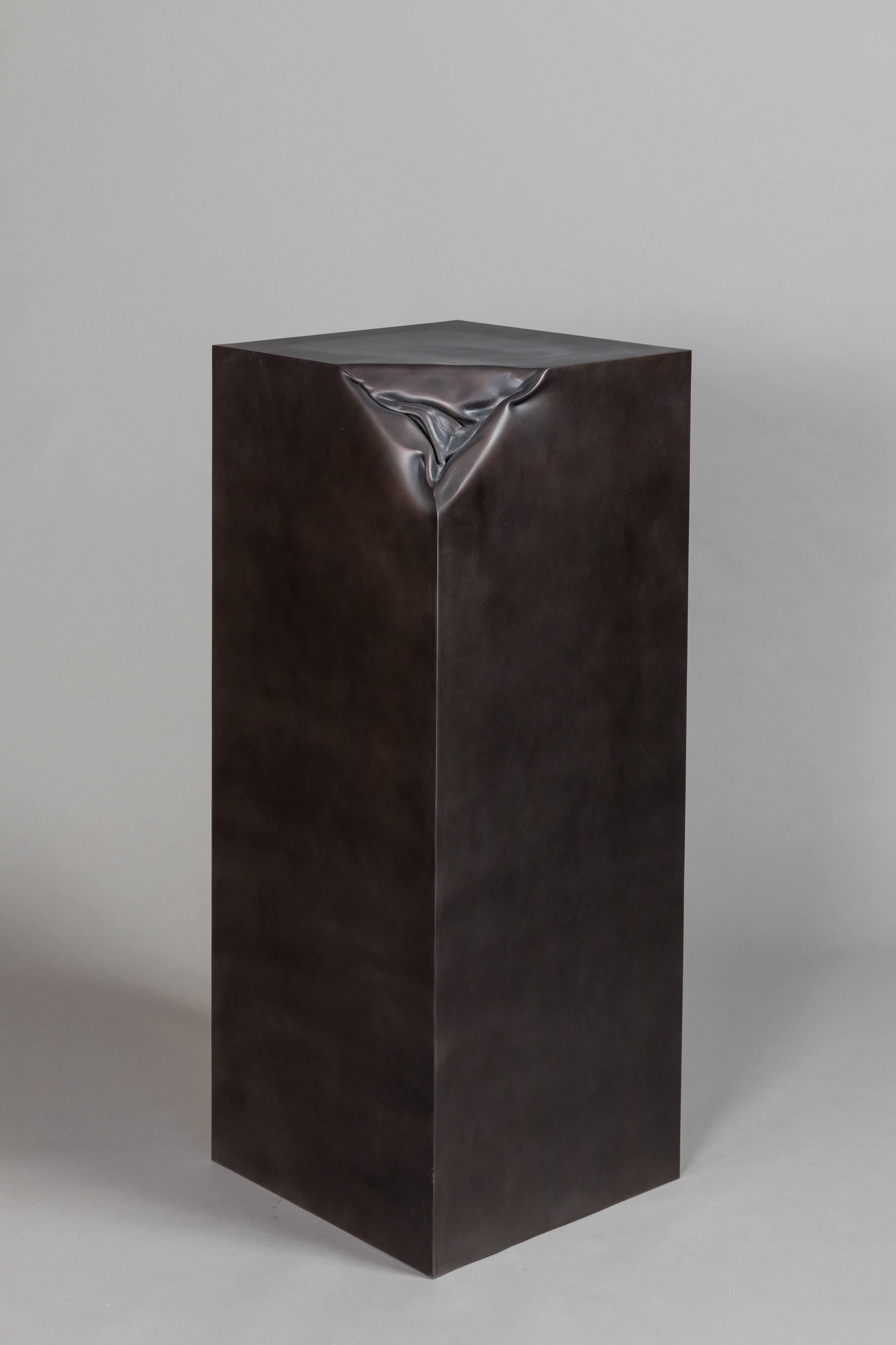 Near Perfect, 2012, steel, 40 x 18 x 18 in, $6,500
