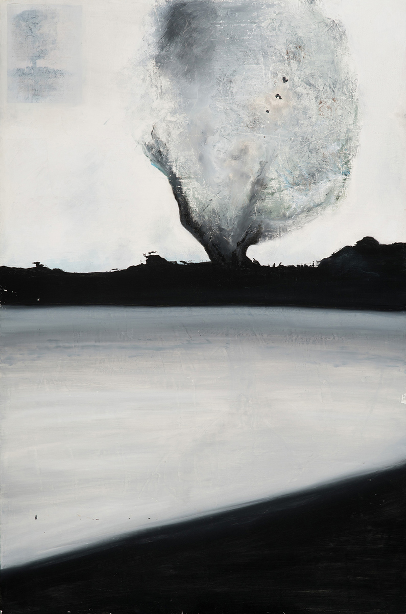 Beth O_Donnell, Larkin Pond, mixed media, 40 x 60 in, $6200