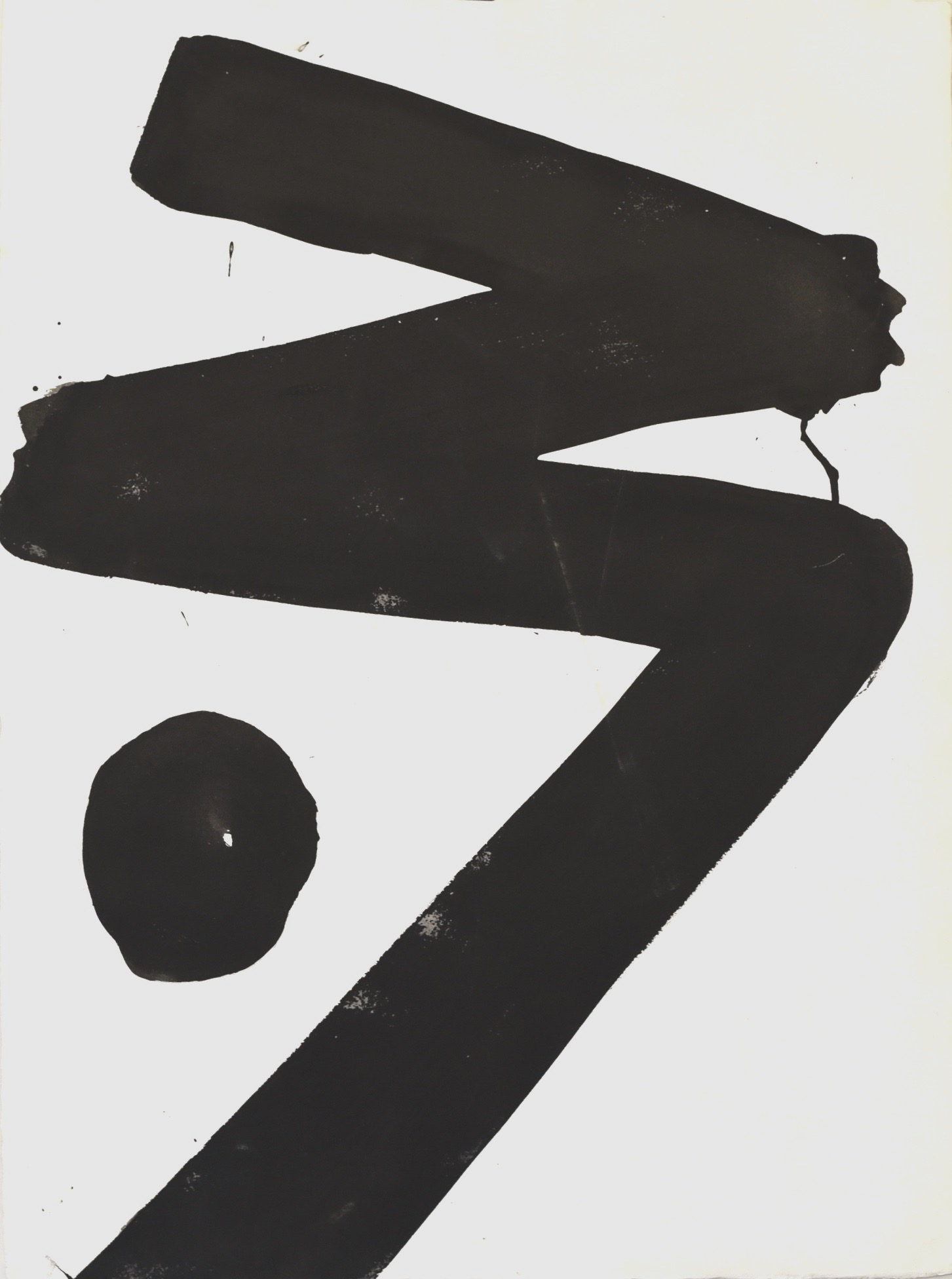 David Slivka, Untitled #2, early 70s, ink on paper,  31 x 23 in  $4000
