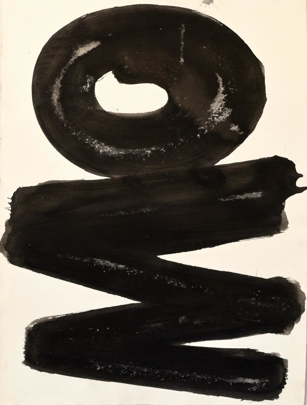 Slivka  Untitled #5, early 70s,  ink on paper, 31 x 23 in, $3000