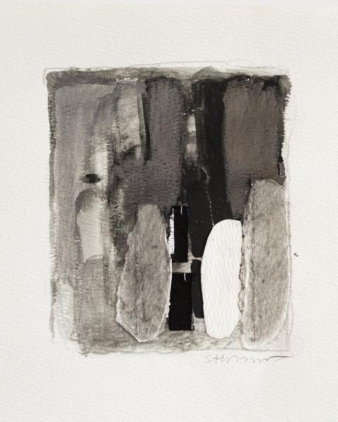 Shari Abramson, Caryatid, gouache, graphite,  11 X 14 in   $800