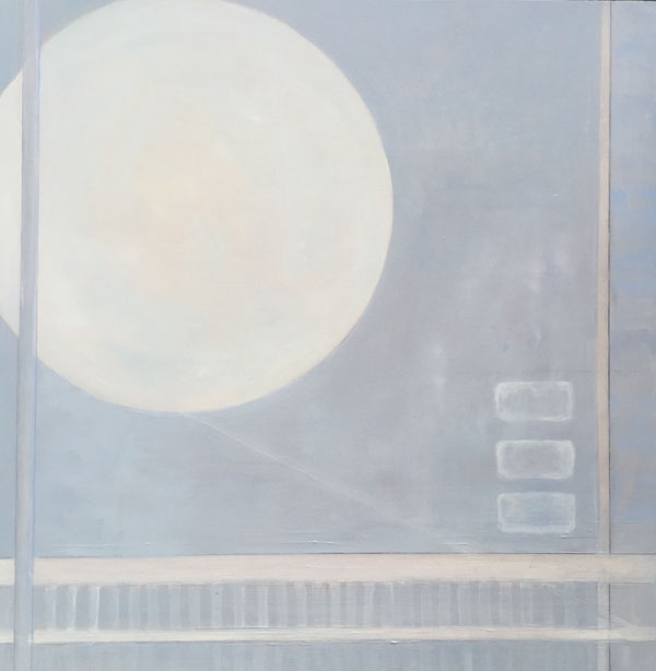 Casey Chalem Anderson,  Moon Glow,  oil on wood, 24 x 24 in  $2400