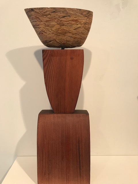 Aurelio Torres, Composition with One Hull, reclaimed lumber, 17.5 x 5.5. x 4.5 in   $2200