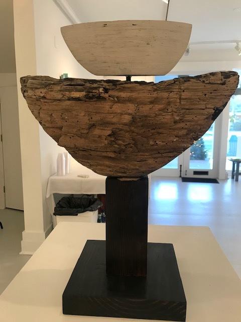 Aurelio Torres, Vessels For a Flood, found object, reclaimed lumber and paint, 24 x 16 x 9 in   SOLD