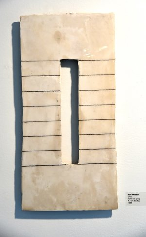 Mark Webber, Portal, Hydrocal and epoxy, 19.5 x 9.5 in   $1000