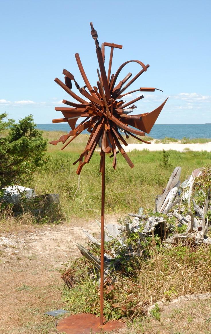 Flower To Seed II, 2004, steel, 8 x 4 x 4 in, SOLD