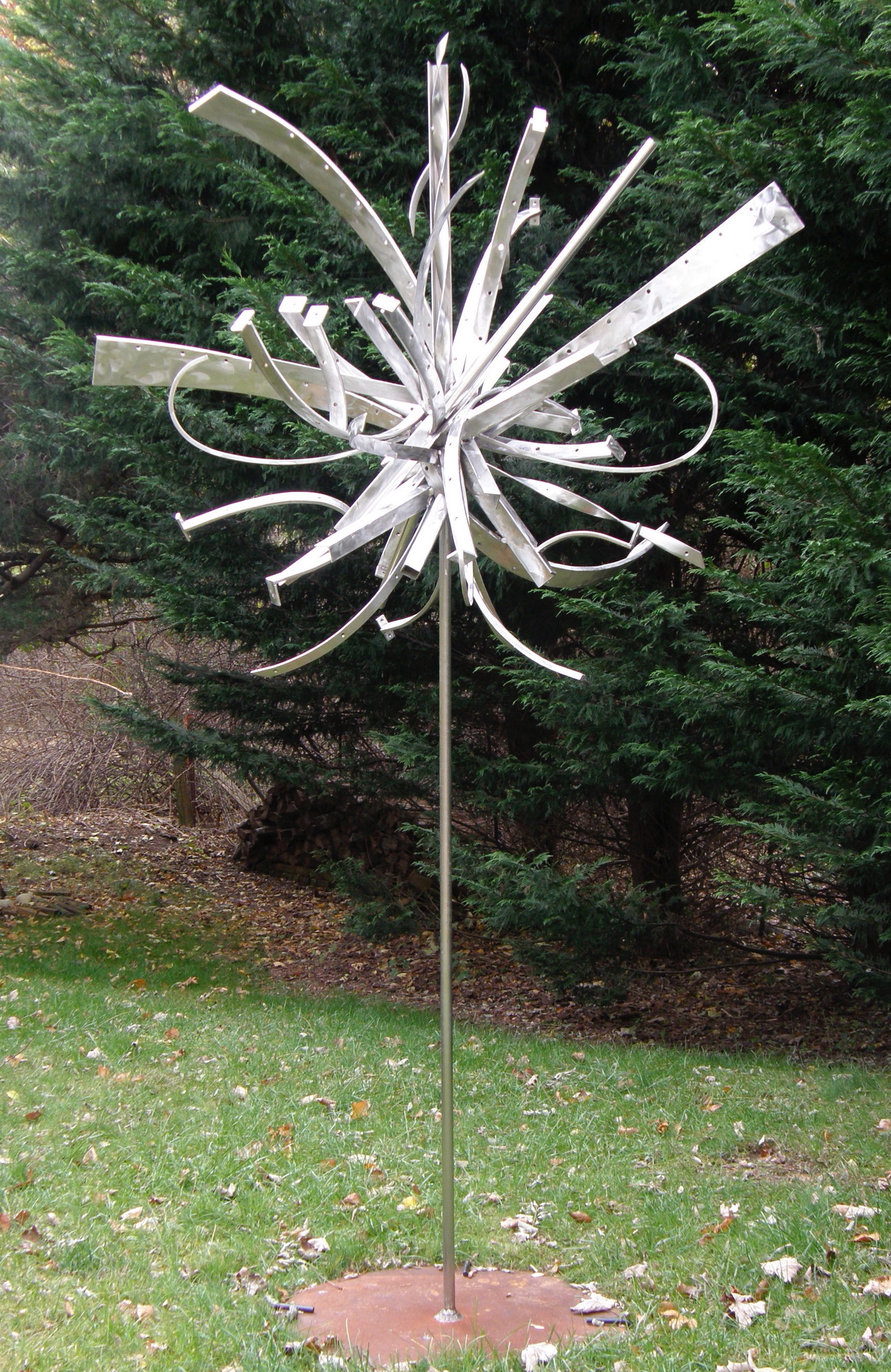 Flower To Seed IV, 2006, stainless steel, 9 x 4 x 4 in, SOLD