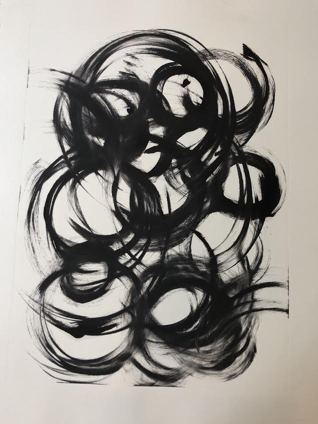 Circles, 2018, monotype, 30 x 22 in, $1,200