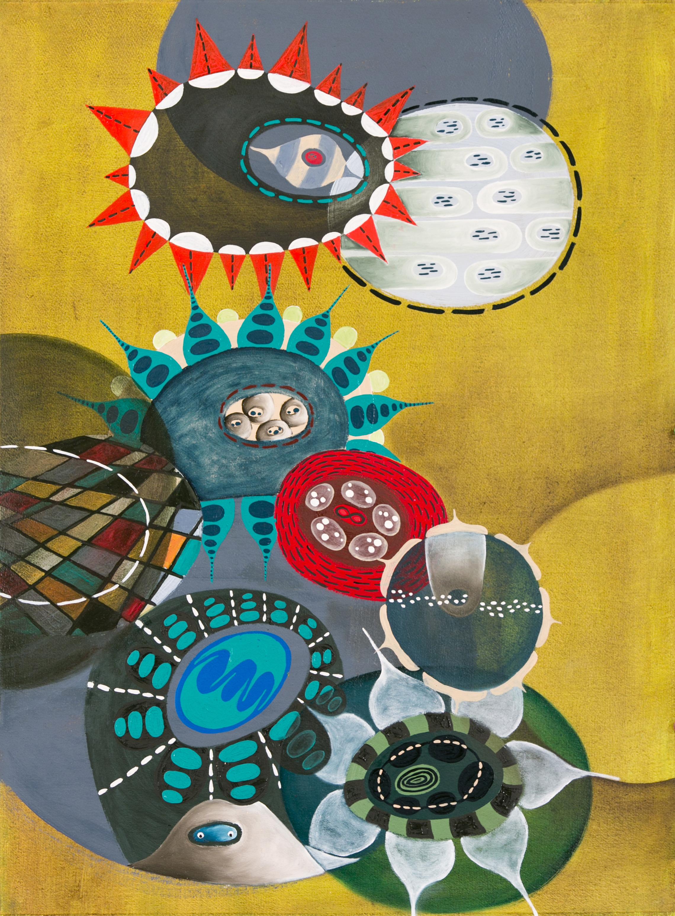Big Seagarden #2, 2017, oil on paper, 30 x 22 in, $5,000