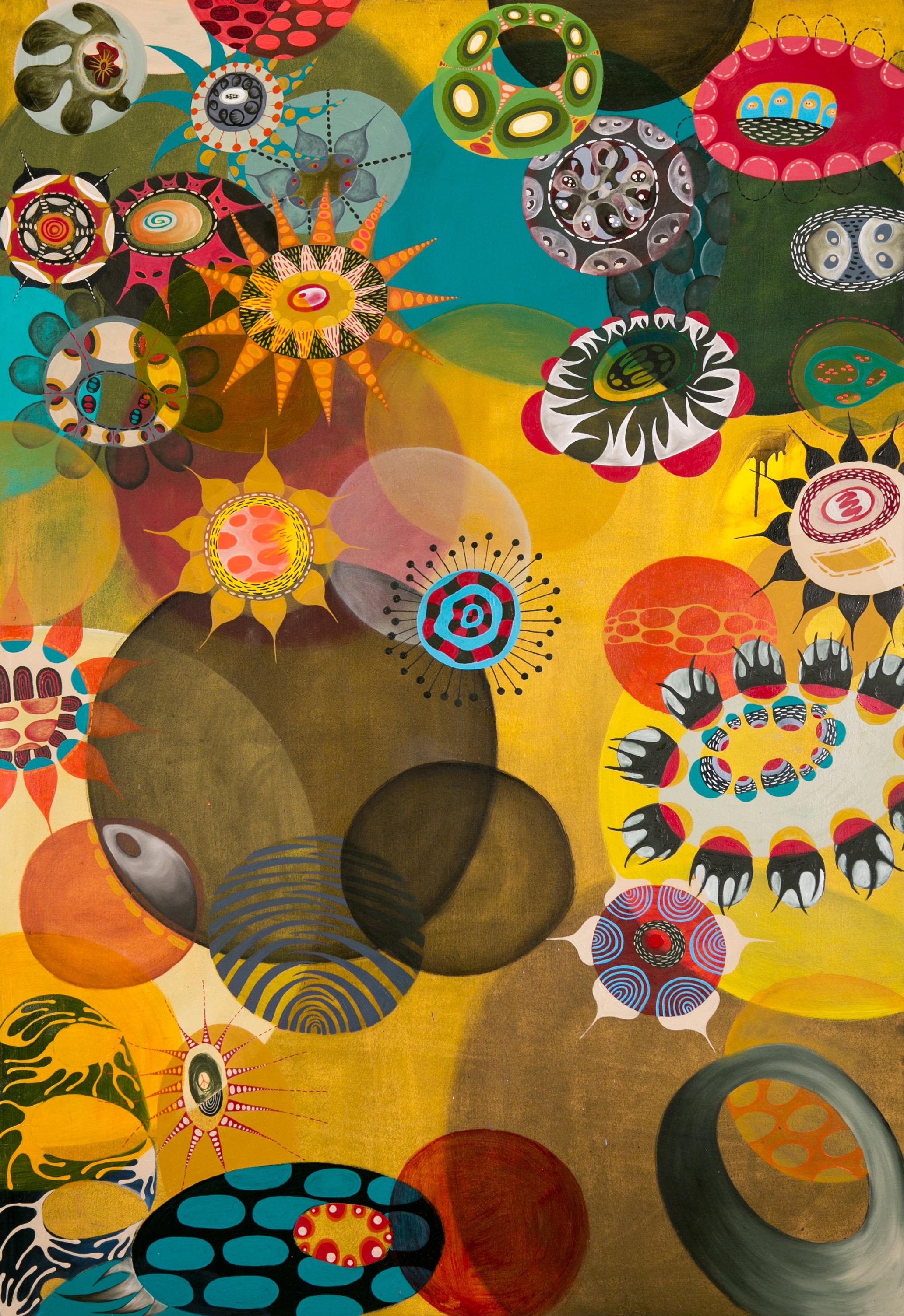 Saffron, 2017, oil on paper, 60 x 40 in, $9,000