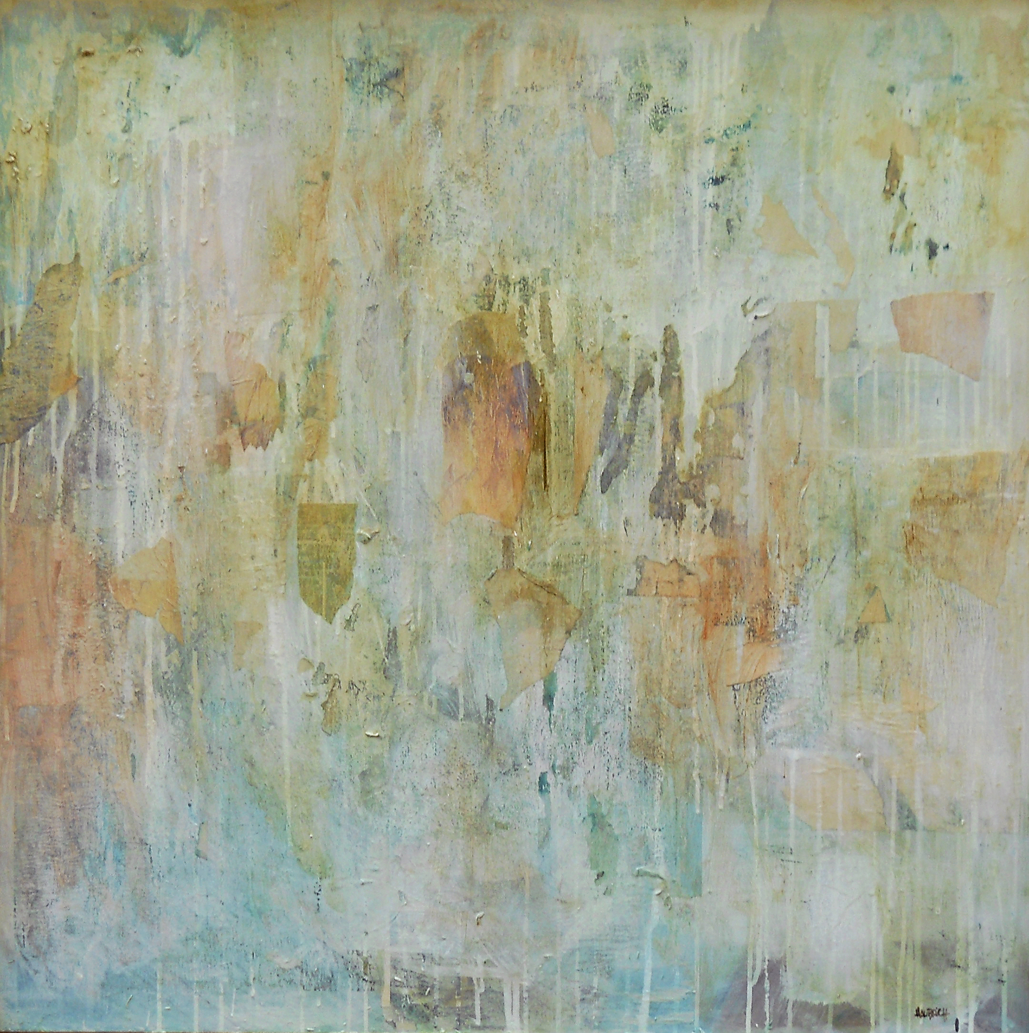 Printemps, 2005, mixed media on canvas, 32 x 32 in, $3,000