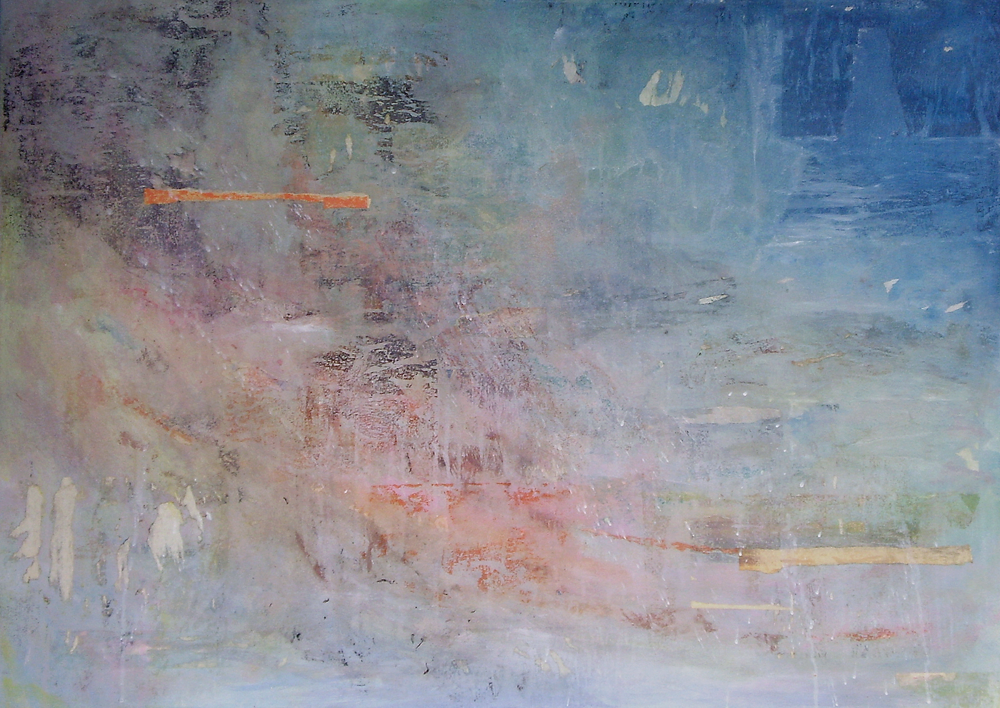 Dusk, 2008, mixed media on canvas, 30 x 42 in, SOLD