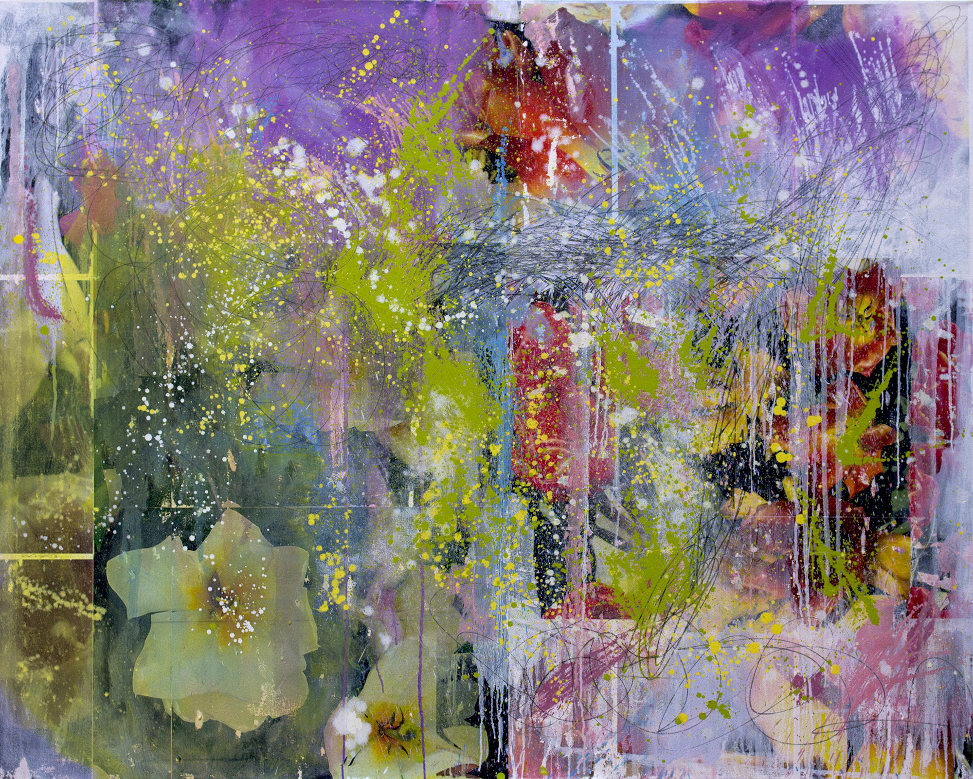 Paradise, 2015, mixed media on canvas, 48 x 60 in, SOLD