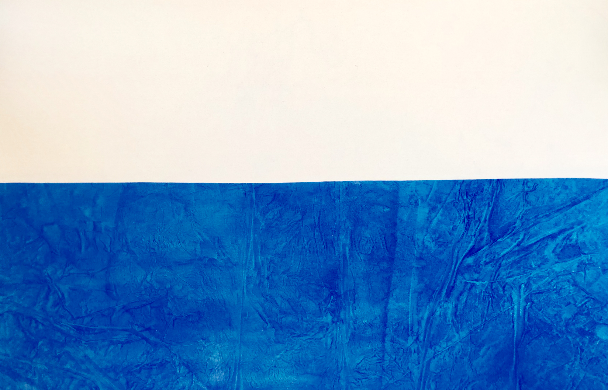 Blue Horizon, 2018, mixed media on canvas, 48 x 72 in, $15,000