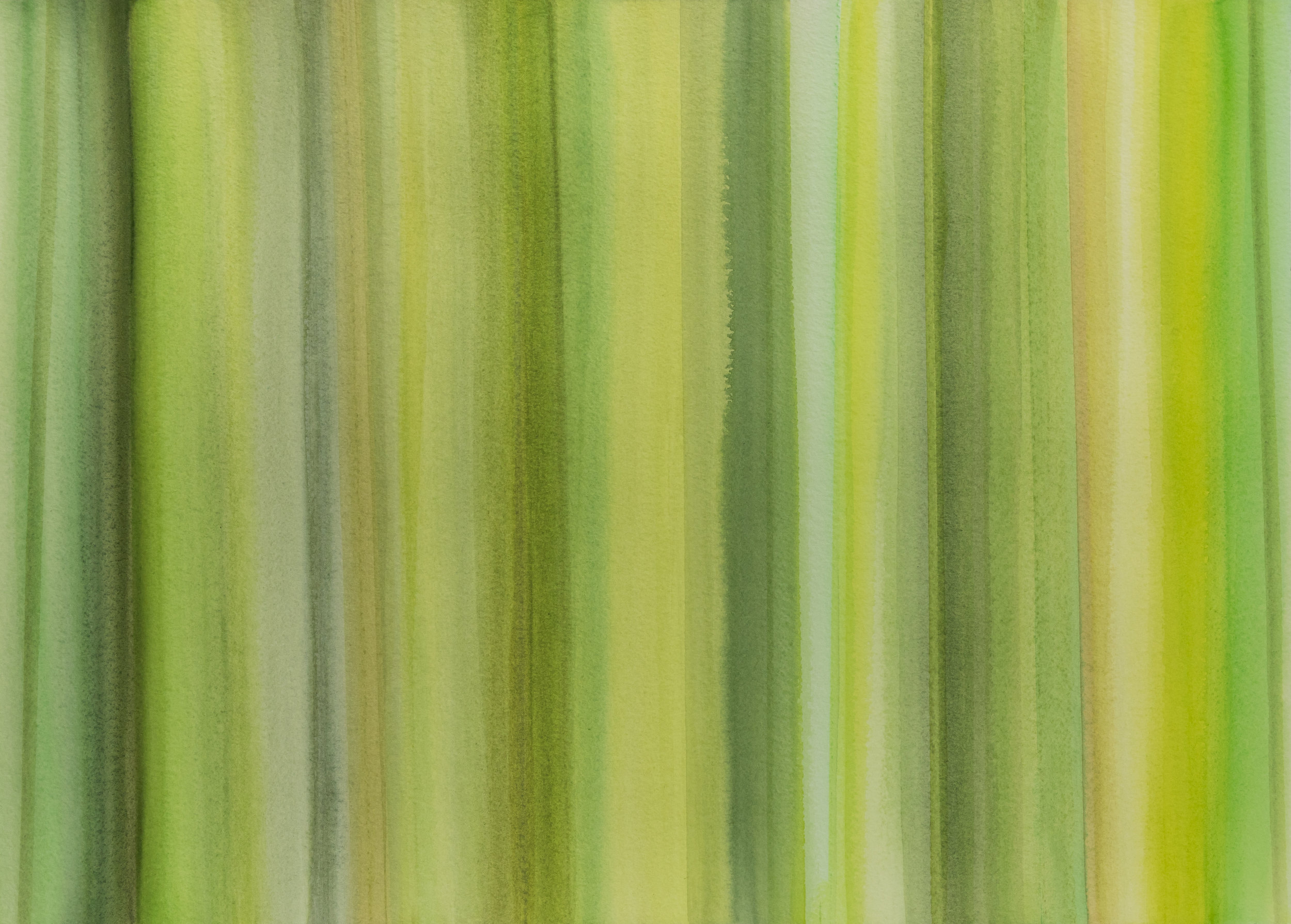 Green Lines I, 2017, watercolor on paper, 22 x 30 in, $3,000