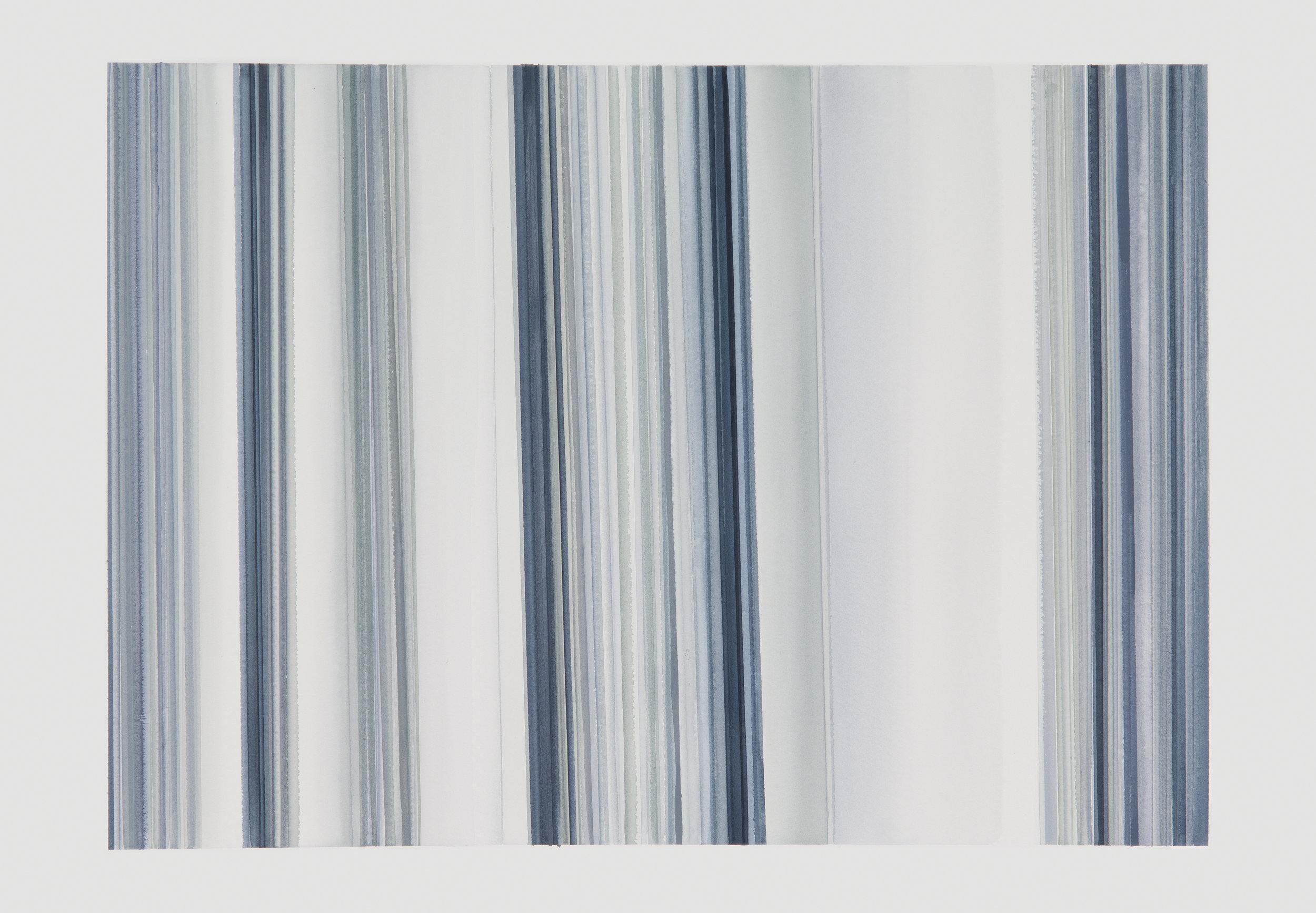 Grey Lines II, 2017, watercolor on paper, 22 x 30 in, $3,000, SOLD