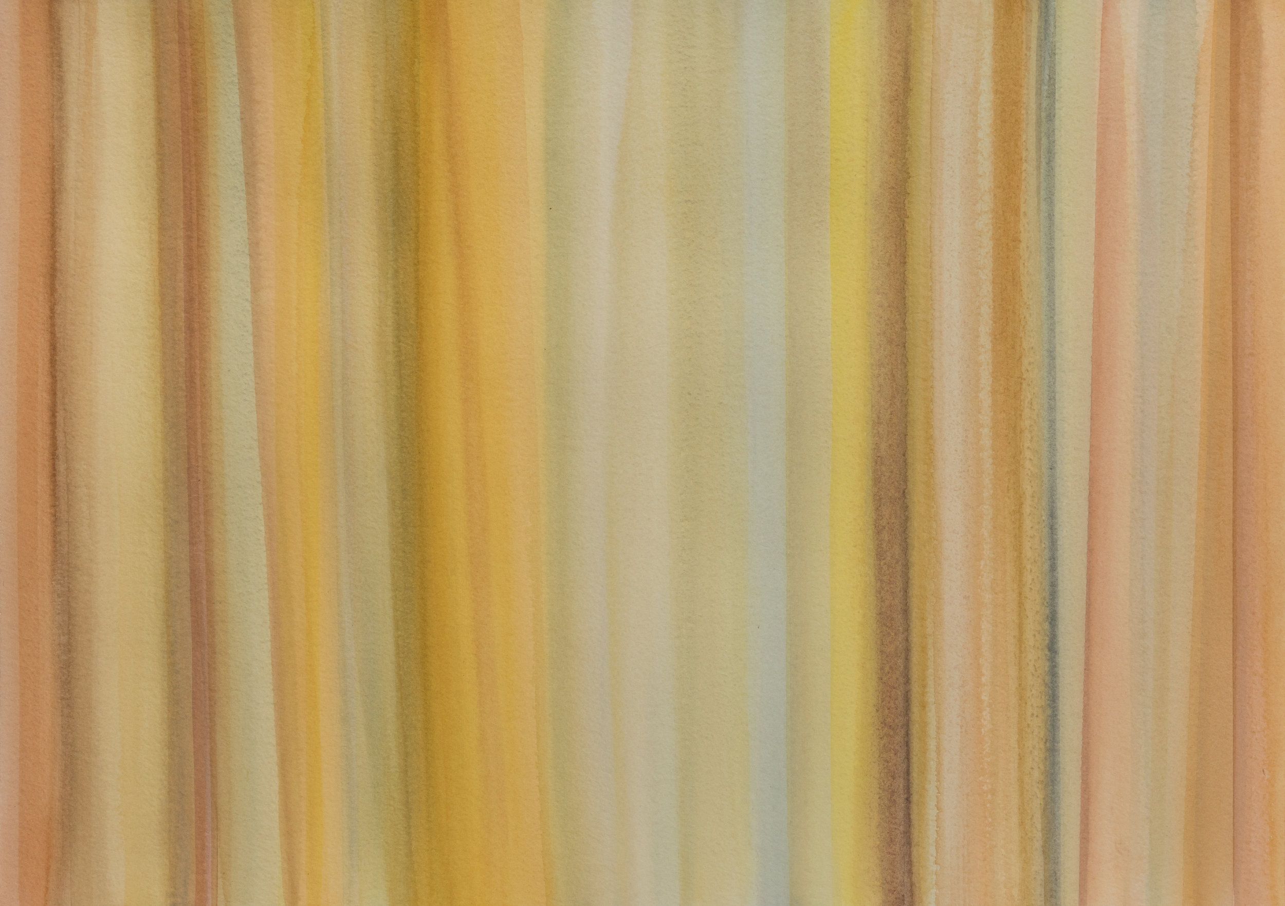 Yellow Lines I, 2017, watercolor on paper, 22 x 30 in, $3,000