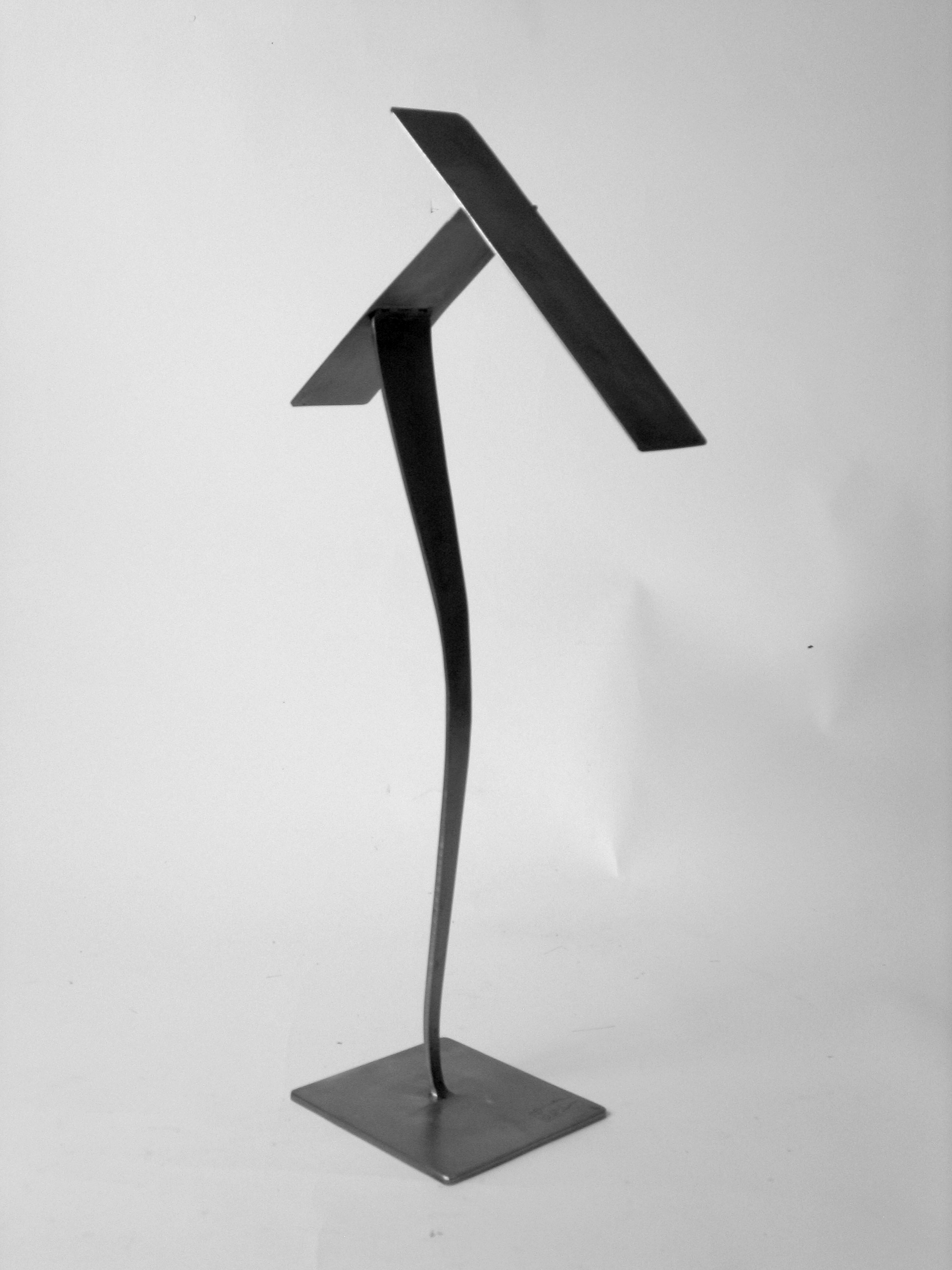 Come Fly with Me, 2010, blackened, welded steel, 18 x 9 x 4 in, SOLD
