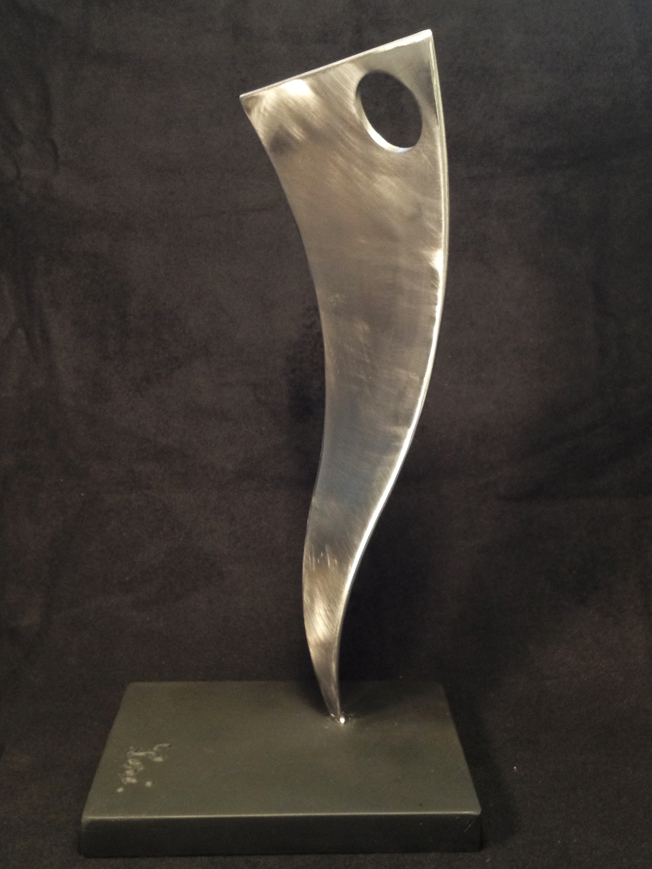 Curve View, 2008, polished, welded steel, 16 x 8 x 6 in, SOLD